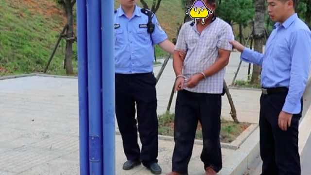男子深夜专偷电缆,民警