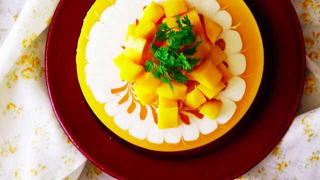 免烤芝士芒果蛋糕 :不用烤的美味