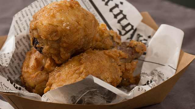 甜甜的脆皮蜂蜜炸鸡