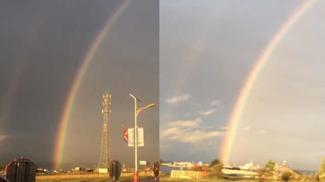 喜提双彩虹!青海湖雨后现绝美奇景
