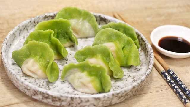 入伏必吃的翡翠白玉饺!