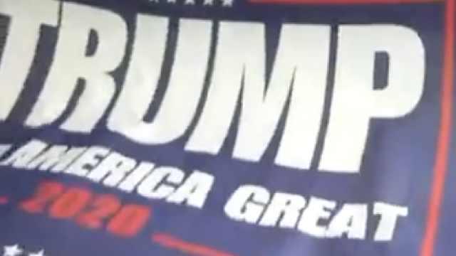 川普竞选应援旗,提前2年在华开工