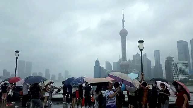 台风登陆上海,小伙还以为没开始