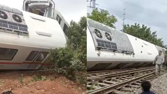 武汉一测试列车3车厢侧翻,2人受伤