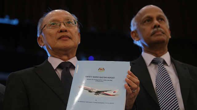 马航MH370报告事因存疑,家属不满