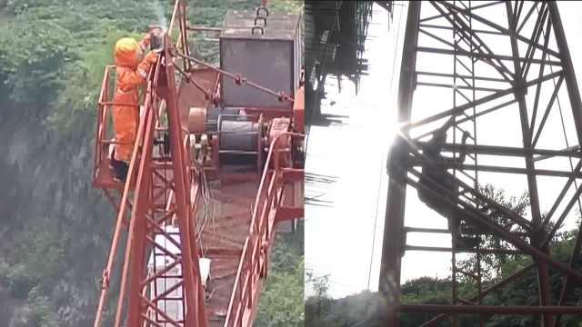 馬蜂塔吊筑巢,消防攀40米高架摘除