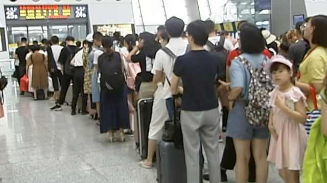 台风摩羯发威!杭州94趟列车停运