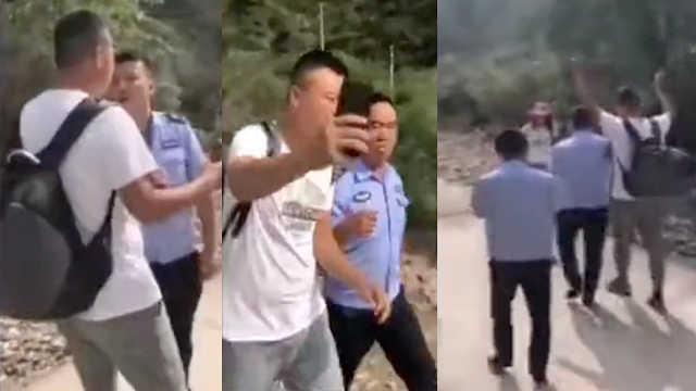 游客五台山逃票被查后,拍视频硬闯