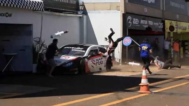 巴西赛车场突发事故,车手连撞四人