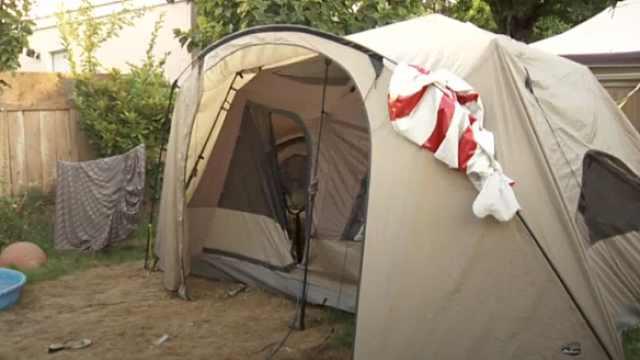 女子温哥华租房每月花1千刀住帐篷