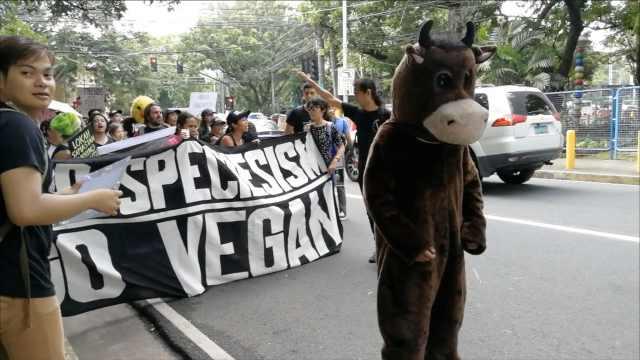 菲反物种歧视日游行,抗议屠宰动物
