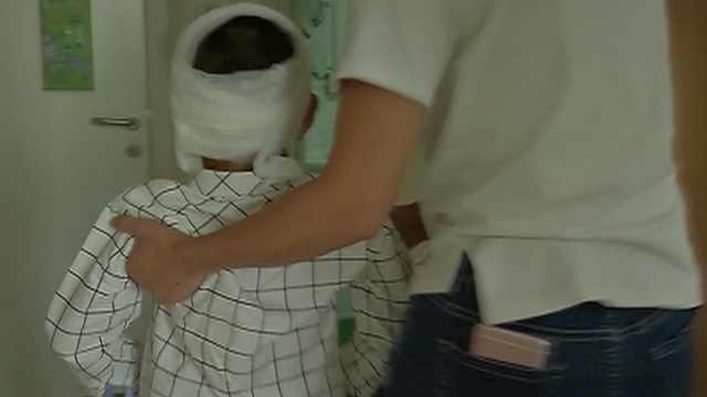 触目惊心!7岁男童被恶狗撕下半张脸