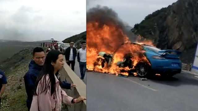 2车相撞起火烧成空壳,致1死7伤