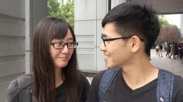 甜!台湾男生上海读研,女友陪他报到