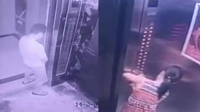 有病!他在电梯撒尿,她按亮所有楼层
