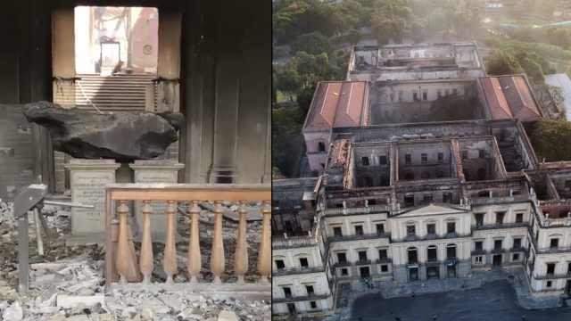 巴西国家博物馆大火,最大陨石幸存