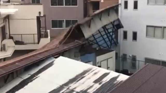 日本台风有多猛烈?多地屋顶被掀翻