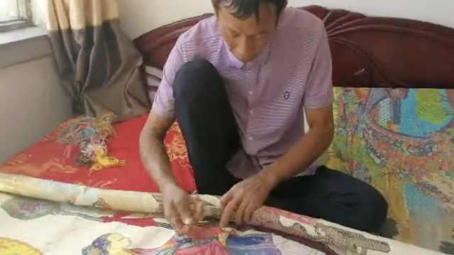 他收养弃婴21年,绣十字绣为女治病