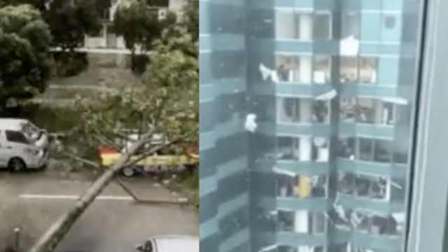山竹大风圈触陆,香港进入10级风圈