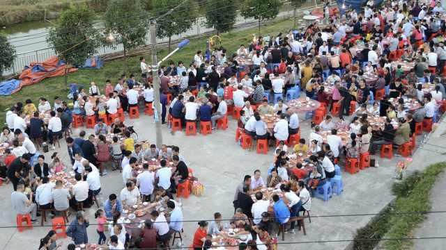 山村开发要搬迁,村民办50桌告别宴