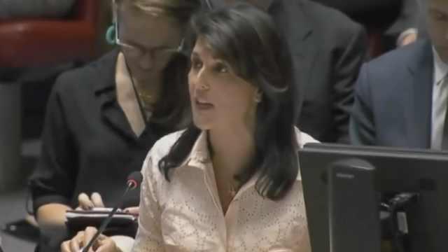 美驻联合国大使辞职:黑莉高光时刻