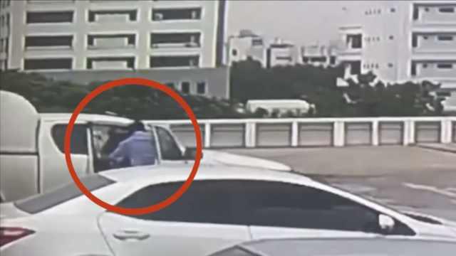 惊魂一刻!粗心司机开车从6楼坠下