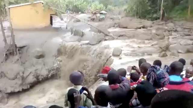 乌干达山体滑坡致41人死,发现残肢