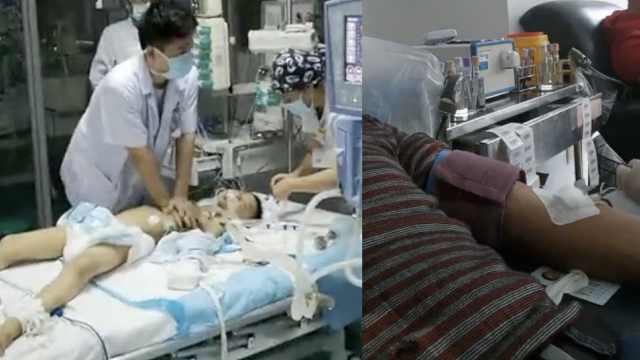医护按压3万次救娃,父亲献血报答