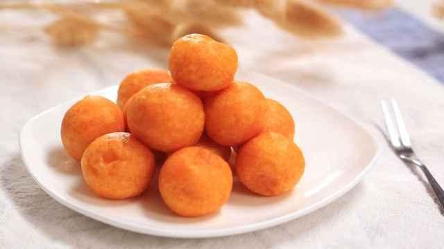 圈粉无数的红薯丸子,怎么吃都不胖