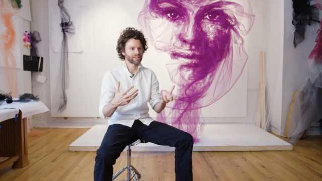 美到窒息!艺术家用薄纱做优雅雕塑