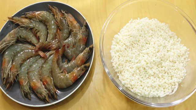 虾和糯米独特的做法,软糯鲜香!