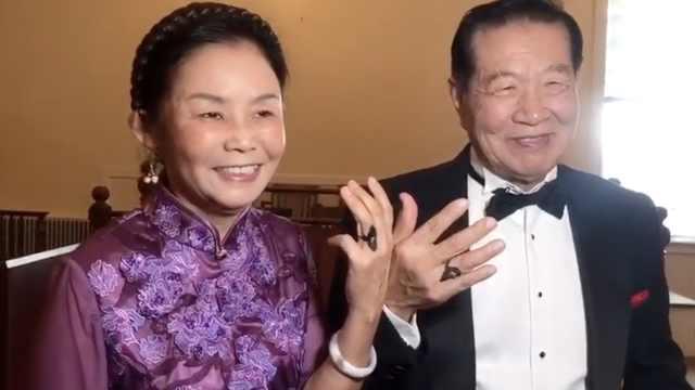 神探李昌钰在美完婚,手画5克拉钻戒