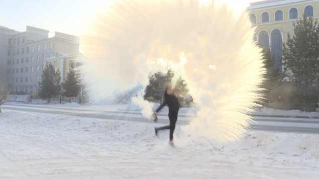 漠河-43.5℃,南方人来体验泼水成冰