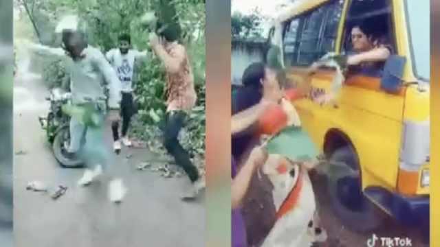 为拍抖音视频,印度学生打架8伤