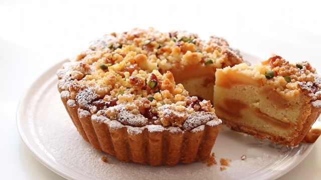 清甜好吃的的苹果蛋挞