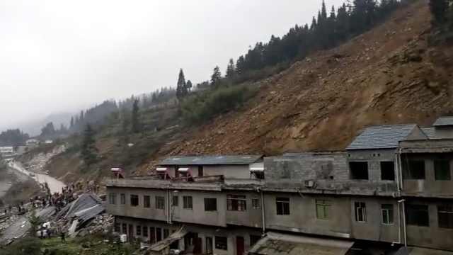 泸州山体滑坡12人被埋,5人已救出
