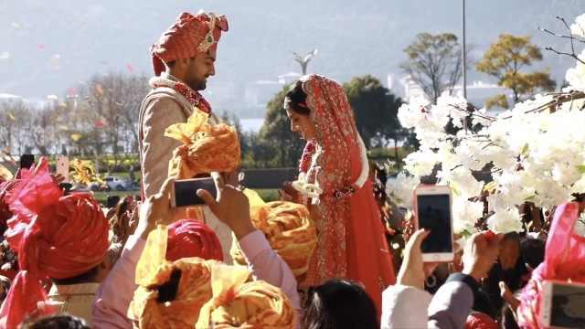 阔气!印度新人花2千万在昆明办婚礼