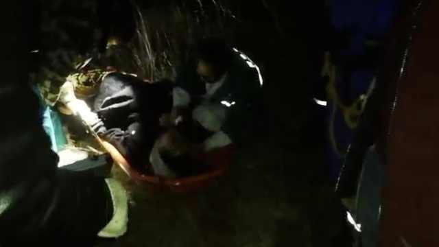 男子体验滑翔伞,不慎发生坠落事故