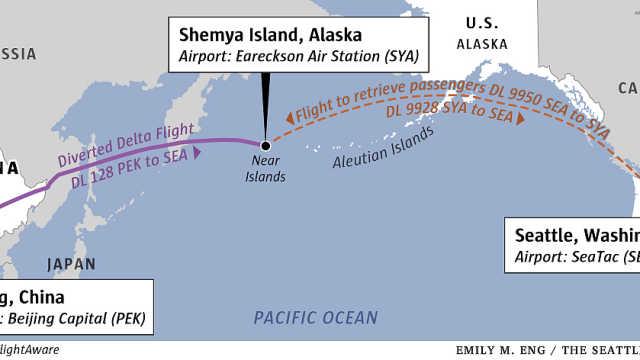北京飞西雅图客机紧急降落太平洋岛