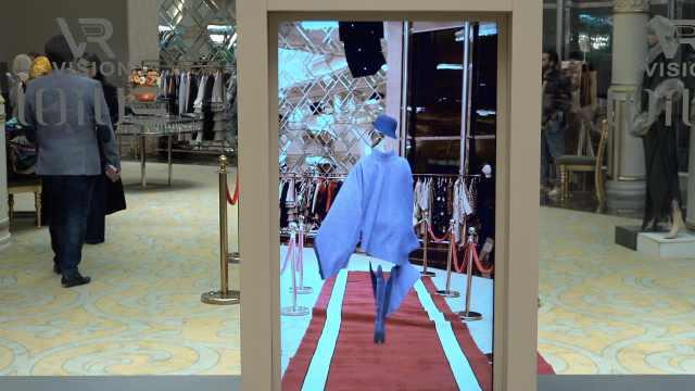 伊朗时尚秀用AR,实现衣服自己走秀