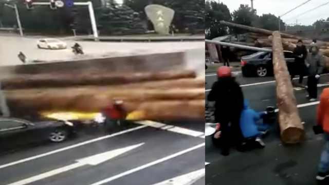 重型车避电动车,砸向小车致1死2伤