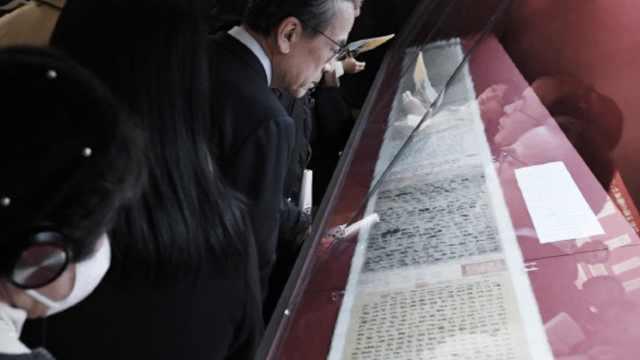 探访祭侄文稿东京展,每人看几秒