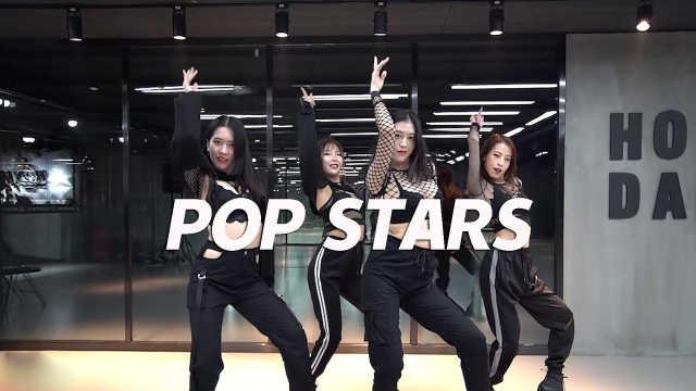 小姐姐翻跳《POP STARS》,燃爆!