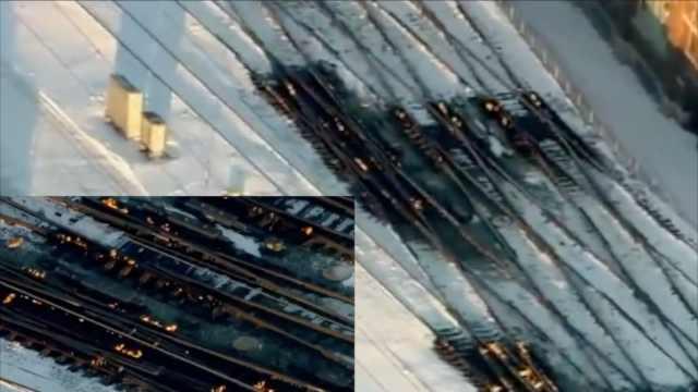 极寒天气袭美,芝加哥火烧铁轨通路