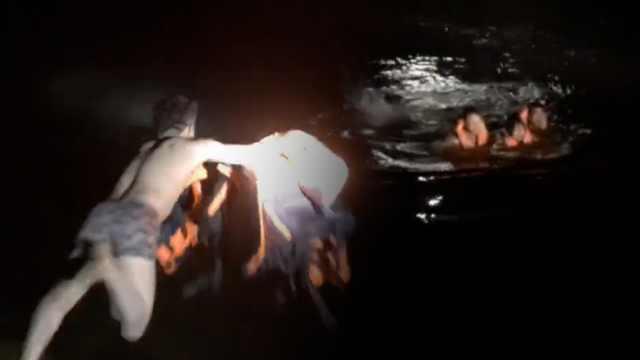 致敬!零下6℃他光膀跳入冰河救3人