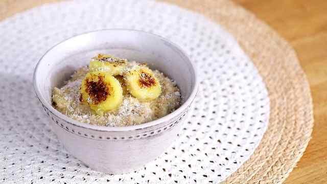 温暖饱腹减脂早餐燕麦粥
