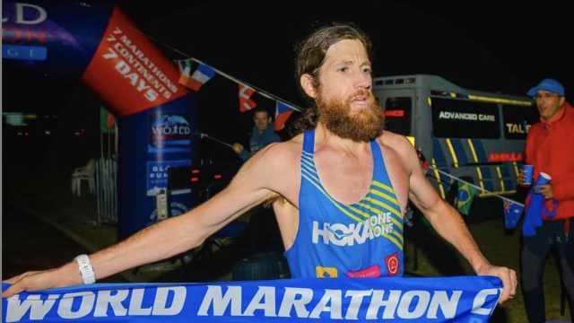 跑遍全球!大叔10天10马拉松创纪录