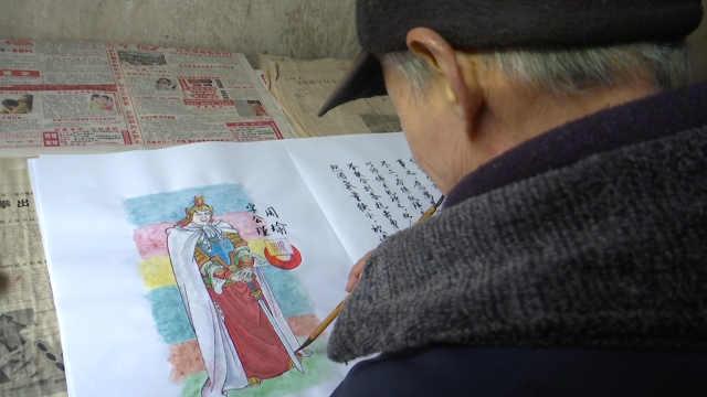 熟读原著,75岁退休教师手绘