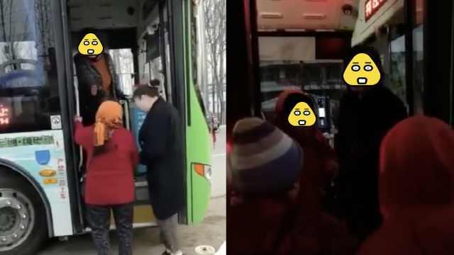 3老太带货上公交被拦,司机:不拉货