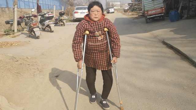 儿务工13年未归,她每天拄拐村头等